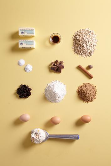 Ingredients for Tillamook Caramelized Butter Pecan Ice Cream Sandwiches