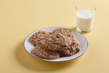 Plate of Toffee-Brown Butter Oatmeal Cookies