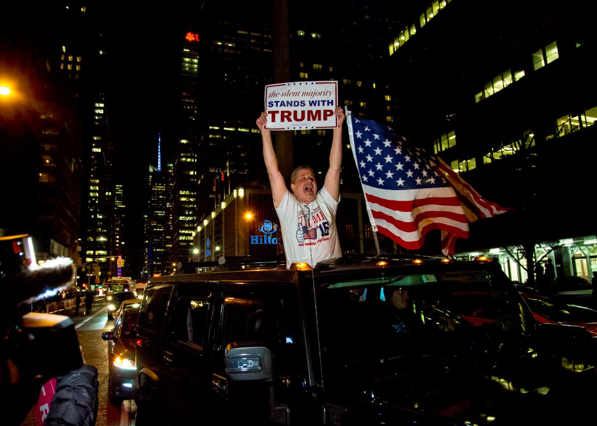 Celebration - Trump Supporter Celebrating Tuesday Night In New York