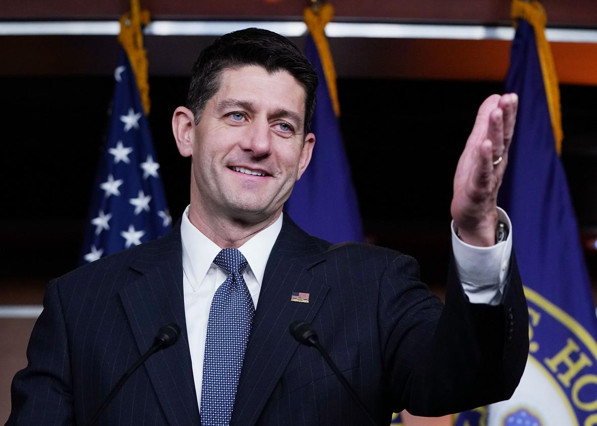 House-Speaker-Paul-Ryan-Holds-Weekly-Press-Conference-At-US-Capitol