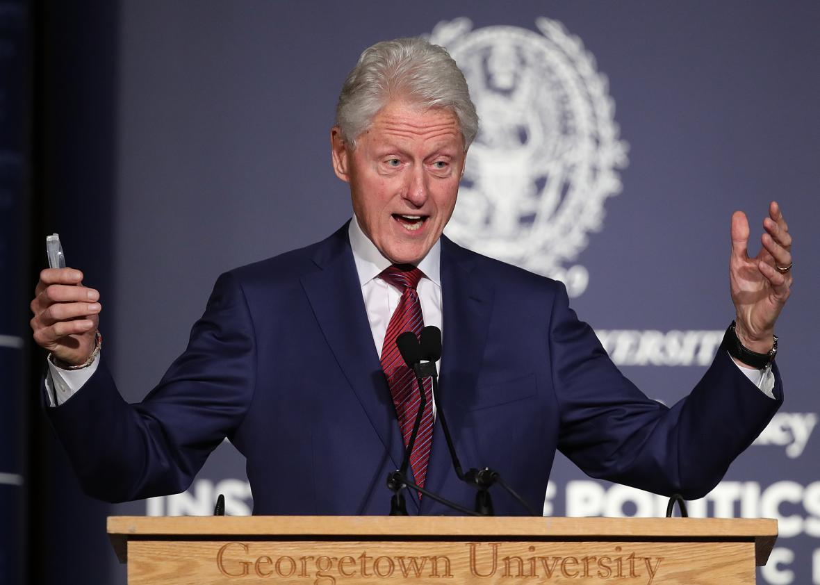 Bill-Clinton-Speaks-At-Symposium-Marking-25th-Anniversary-Of-His-Election