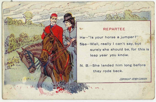 Leap Year Postcards From The Early 20th Century Showing Women