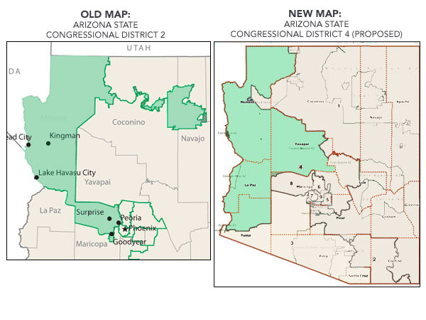 Map Of Arizona Congressional Districts.Congressional Redistricting Can Independent Commissions Put An End