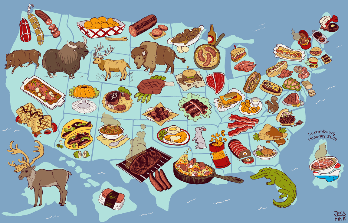 United Steaks Of America Map If Each State Could Have Only One - Dog ownership us map