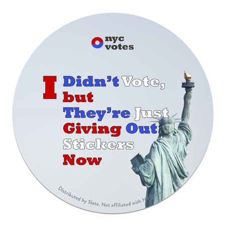 1604167_BB_ivoted_givingout honest \u201ci voted\u201d stickers for the new york primary,I Voted Sticker Meme