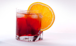 Negroni cocktail using Campari.  Click image to expand.