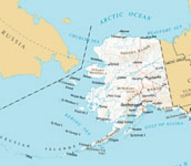 Map Of Alaska And Russia Can you really see Russia from Alaska? Map Of Alaska And Russia