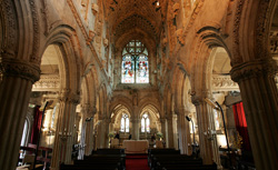Inside the Rosslyn Chapel. Click image to expand.