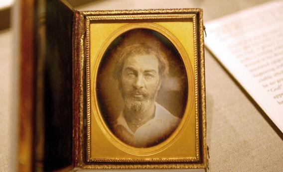 A daguerreotype of Walt Whitman is displayed at the New York Public Library September 13, 2005.