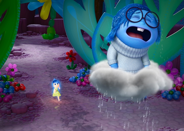 Inside Out. Pictured (L-R): Joy, Sadness.