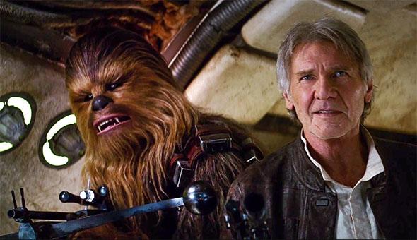 Han Solo und Chewbacca aus Star Wars Episode VII - Das Erwachen der Macht