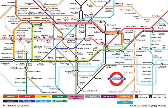 London Metro Map Pdf