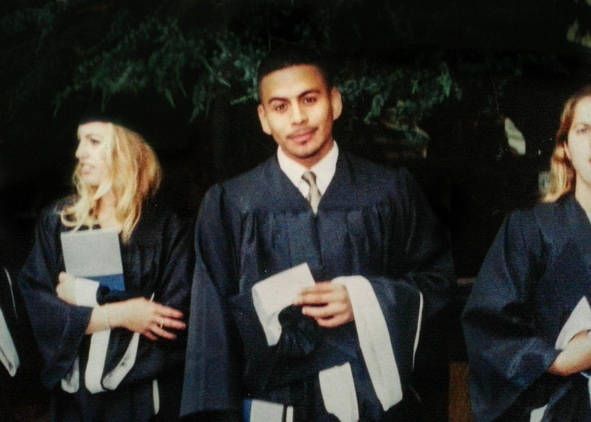 Arvelo at his graduation from Georgetown in 1999.