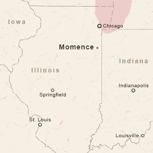 MOMENCE, ILLINOIS MAP INSET
