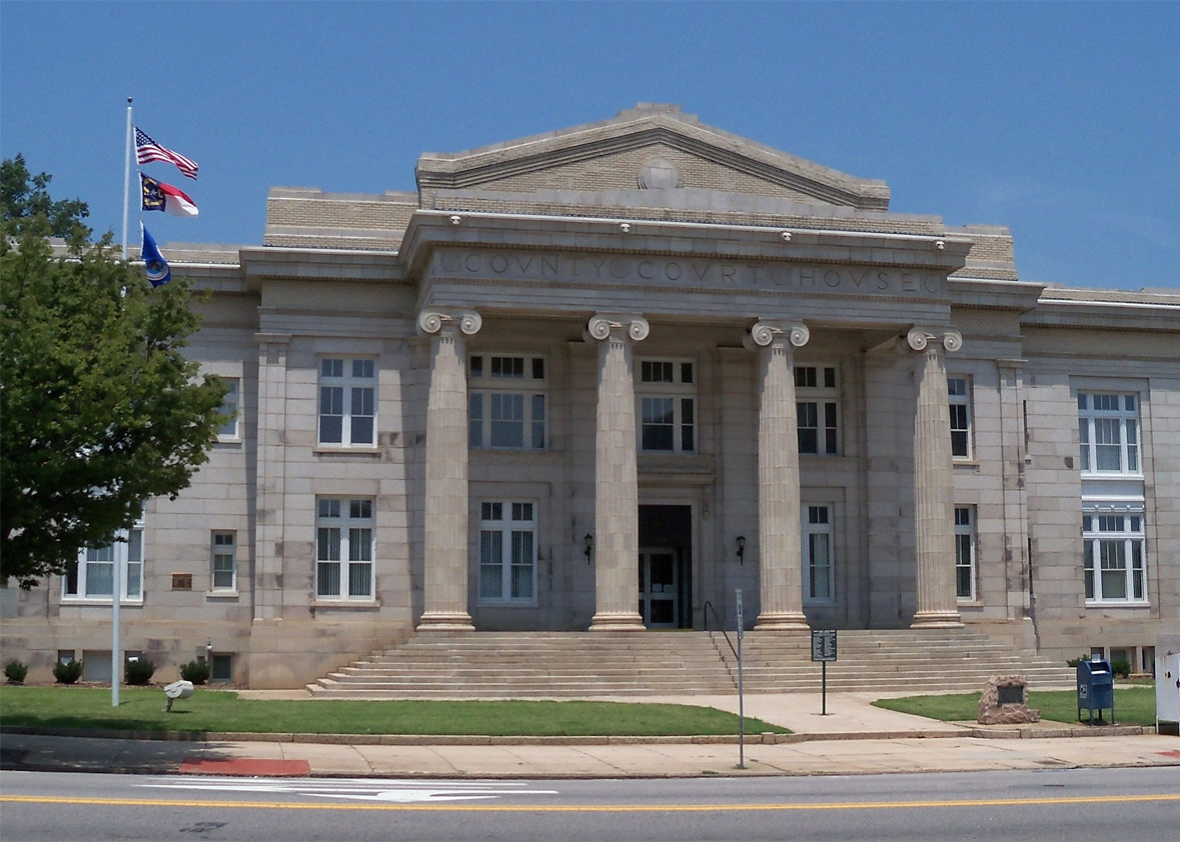 Rowan County Courthouse in Salisbury, North Carolina, USA.