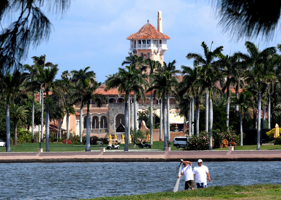 U.S. President Donald Trump's Mar-a-Lago estate in Palm Beach is seen from West Palm Beach, Florida, U.S., as Trump prepared to return to Washington after a weekend at the estate, March 5, 2017.