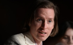 US director Wes Anderson speaks during the press conference of 'Moonrise Kingdom' at the 65th Cannes film festival on May 16, 2012 in Cannes.