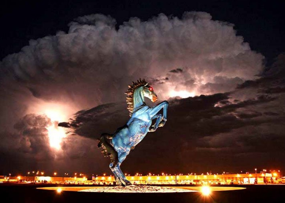 The Blue Mustang is part of several conspiracy theories centered ...