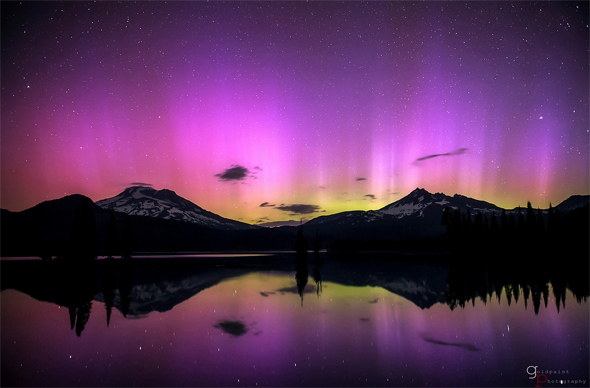 Crater lake aurora