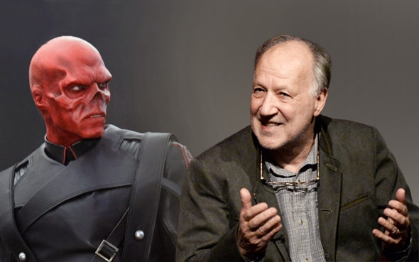 Red Skull from Captain America (2011) and Werner Herzog.