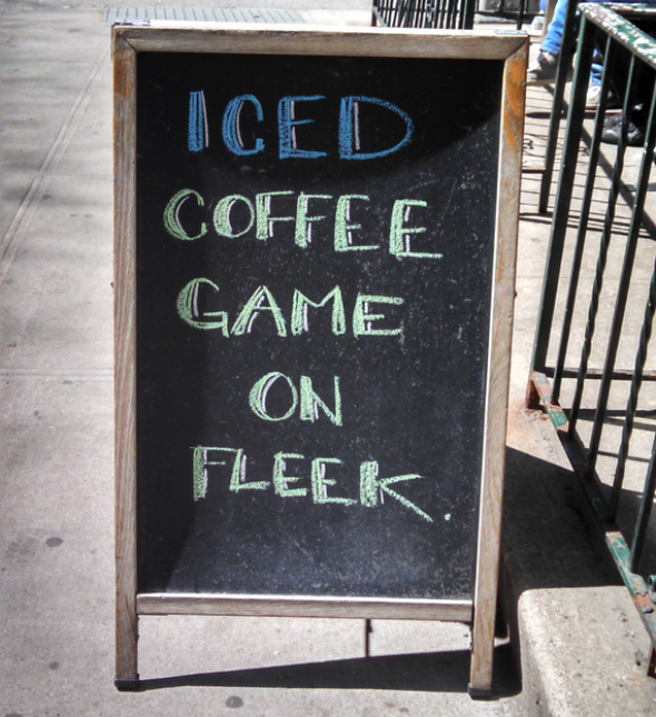 Finest Against overly clever sidewalk sandwich-board signs: Why  KP64